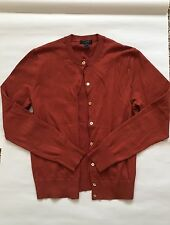J Crew NWOT rust Red Cardigan Sweater Button Front Blouse Class Casual Work M