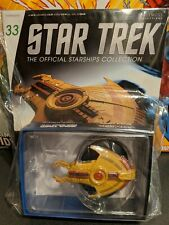 Eaglemoss Star Trek #33 Cardassian Hideki Class Ship w/ Magazine & FREE SHIPPING