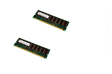 2X MICRON MT18LSDT3272G-133E1 256MB SYNCH 133MHz CL3 PC133R-333-542-B1 RAM
