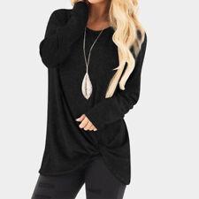 ZANZEA 8-24 Women Casual Plus Size Long Sleeve Blouse T Shirt Tee Club Party Top