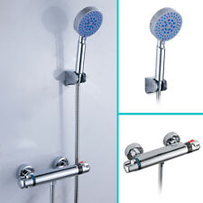 Modern Thermostatic Bathroom Taps Bath Mixer Bar Valve Tap With Wall Shower Wniu