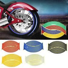 Motorcycle Reflective Motor Car RIM Stripe Wheel Decal Tape Sticker 17''