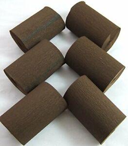 6 Dark Brown Wide Crepe paper Each Streamers 80mm x 10metres quauliy decoration