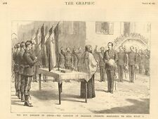 1882 NEW KINGDOM OF SERVIA GARRISON OF BELGRADE SWEARING ALLEGIANCE TO KING MILA