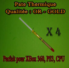 4 x Pate Thermique OR - GOLD CPU INTEL, AMD, CPU , GPU , PS3 , XBOX 360