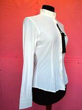 Camicia equitazione da donna della Cavalleria Toscana in tessuto Jersey Bianco