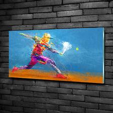 Glas-Bild Wandbilder Druck auf Glas 100x50 Deko Sport Tennisspieler