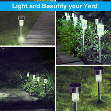 8/10/12 Pack Outdoor Stainless Steel Led Solar Power Light Lawn Garden Landscape