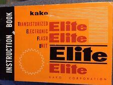 Kako Elite-5 Flash Unit Electronic Flash Unit Instruction Manual Book