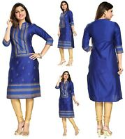 WITHOUT LABEL Indian Pakistani Designer  Party KurtaTunic Dress Women BD356