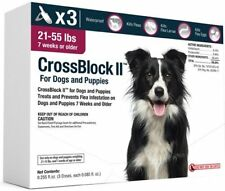 CrossBlock II Once a Month Topical Flea Prevention for Dogs 21-55lbs 3pack