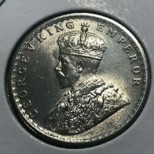 1933 BRITISH INDIA SILVER 1/2 RUPEE NEAR UNCIRCULATED COIN