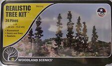 "Woodland Scenics TR1113 24 Realistic Trees Kit 2 1/2-7"""