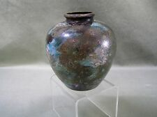 Fine Vintage Japanese Painted Bronze  Vase