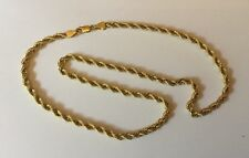 Hallmarked 9ct 9k Yellow Gold Solid Rope Chain Necklace  Simple Elegant