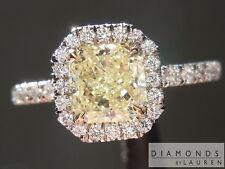 1.00ct Fancy Yellow SI2 Radiant Cut Diamond Ring GIA R5964 Diamonds by Lauren