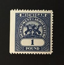 Michigan State Revenue - 1 lb. Feed Inspection Tax blue #FE8 - MNH