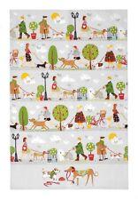 """Ulster Weavers, """"Walkies"""", Pure cotton printed tea towel."""