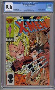 UNCANNY X-MEN #213 CGC 9.6 WOLVERINE VS. SABRETOOTH WHITE PAGES (8012)