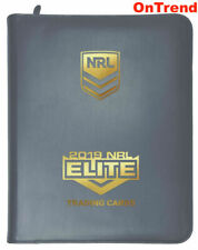 2019 RUGBY LEAGUE NRL ELITE Trading Cards Album + 25 x 9 Pocket Pages Sleeves