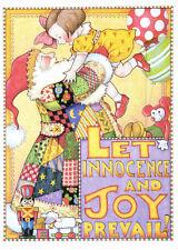 Mary Engelbreit-Let Innocence & Joy Prevail-Christmas Santa Claus Toys Card-New!