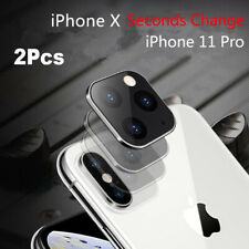 Camera Lens Seconds Change Protector Ring Cover For iPhone 11 Pro Max Metal Lens