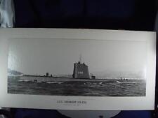 "23"" X 9"" USS GRENADIER SS 525  Naval Submarine USN Navy real Photo 1962 TOULON"
