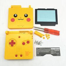 GBA SP Game Boy Advance SP Housing Shell GLASS Screen Lens Pikachu Yellow