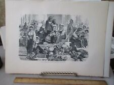 Vintage Print,STEPS OF BASILICS,Rome,Francis Wey,1872