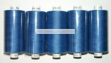 5 x ROYAL BLUE MOON POLYESTER SEWING THREADS COTTON 120s ( M027 )