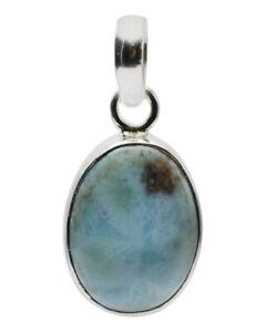 925 Sterling Silver Larimar Gemstone Pendant Fine Jewelry PN101-540