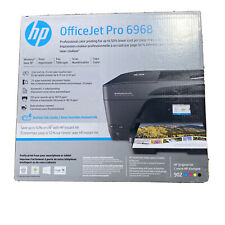 HP OfficeJet Pro 6968 All-in-One Inkjet Printer Used, No Ink