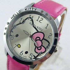 Pink Cute hello Girls Ladies Wrist Quartz Watch Nice Kid's gift hellokitty