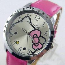 Pink Cute hello Girls Ladies Wrist Quartz Watch Nice Kid's gift hellokitty