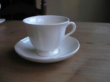 Wedgwood Queens Shape Plain Cup and Saucer