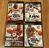 JAPAN Ver PS2 PlayStation 2 lot NBA LIVE 2002+2004+2005+07/2007