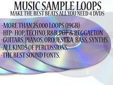 19 GB MUSIC SAMPLE & LOOPS (windows & mac) hip hop/r&b/reggaeton/pop/techno