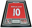 Dennis Bergkamp Signed FRAMED Shirt Photo Autograph Arsenal Name #10 PROOF & COA