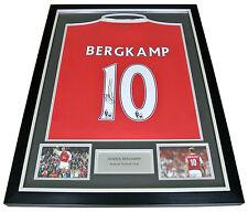 Dennis Bergkamp Signed FRAMED Shirt Photo Autograph Arsenal Name #10 PROOF & COA