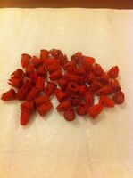 50x Red Mercedes W123 Trim Clips Buttons Grommet Door Moulding 0019882081-New