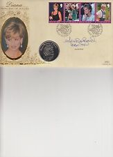 ISLE OF MAN FIRST DAY COVER WITH CROWN COIN SIGNED BY JENNIE BOND