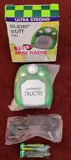 GARNIER FRUCTIS MINI FM AUTO-SCAN RADIO W/ BELT CLIP & EARBUDS NEW COLLECTIBLE