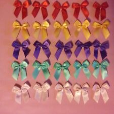 25 pcs Elegant Satin Ribbon Bows for gift boxes flowers,gift cards, decorations