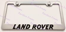 LAND ROVER Stainless Steel License Plate Frame Rust Free W/ Bolt Caps