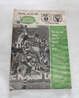 1976 VFL AFL Football Record Carlton v Hawthorn Vol.65 No.22