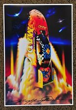 NEW KENNY YOUNGBLOOD SIGNED BEYOND GOOD TASTE MAD MAGAZINE FUNNY CAR PRINT