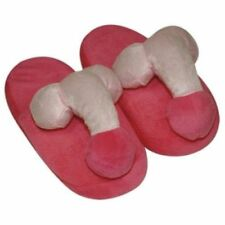 WILLY SLIPPERS PENIS Plush PINK Party Hen Stag Night Xmas UK SELLER FAST POST