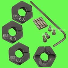 ► 1/10 ALU 6mm GRAU Radmitnehmer Rad Adapter 12mm Hex Sechskant Reifen Tuning