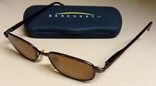 SERENGETI Sunglasses - Faux Tort Frame/Bronze Polarized Photochromatic Lenses