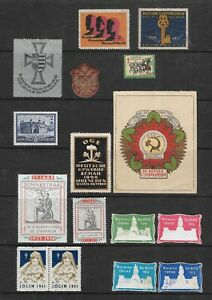 EARLY 20TH CENTURY CINDERELLA STAMPS, LABELS & SEALS - USSR, THIRD REICH ETC.